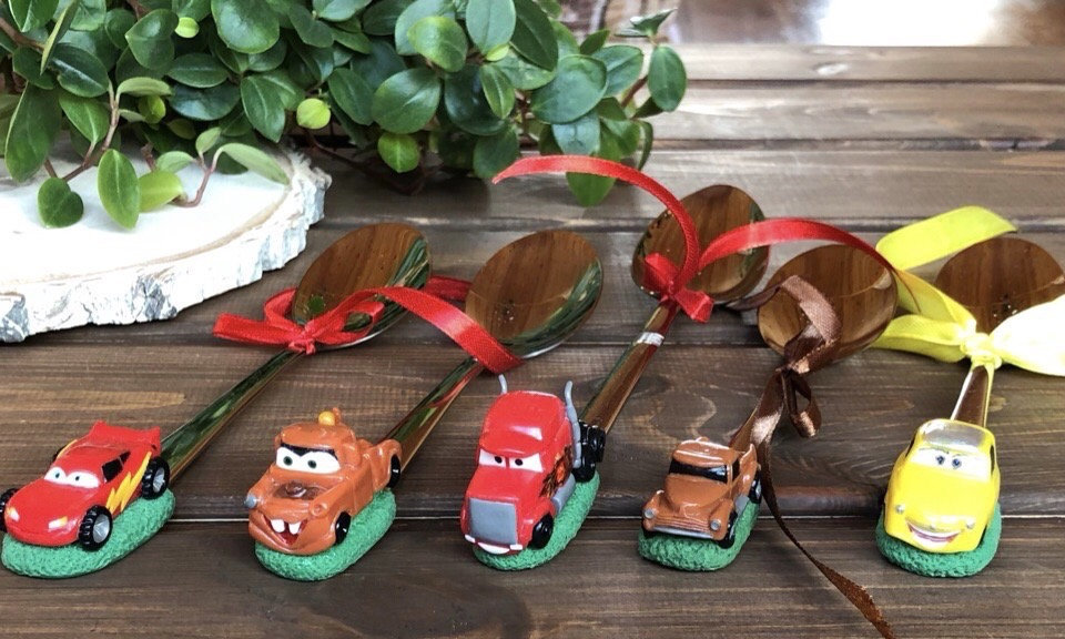 Cartoon car, makvin, poppy, decorated spoon, decorated spoon. Feeding spoon, gift spoon, gift for boy