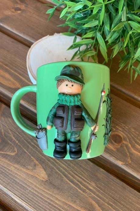 Mug for a rabak, gift to a fisherman, personalized mug, decorated mug 3D, customized cap, custom mug, Mug for best friend